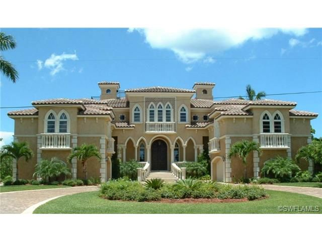 Gothic Mediterranean In Royal Harbor Naples Fl Luxury Homes Dream Houses Mansions For Sale Florida Home