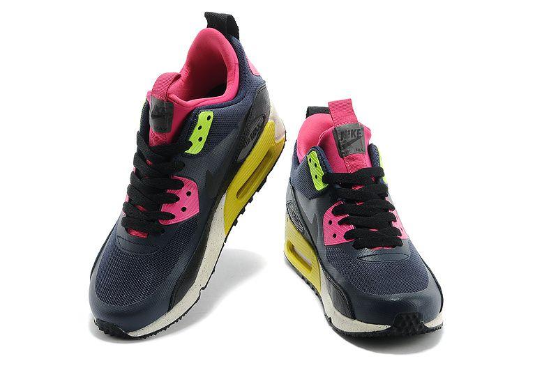 €87.99 Nike Air Max 90 Vrouwen SneakerBoot NS Zwart Diep