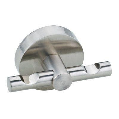 Moen YB5103CH Voss Chrome Robe Hooks Bathroom Accessories ... |Shower Rod Double Robe Hook