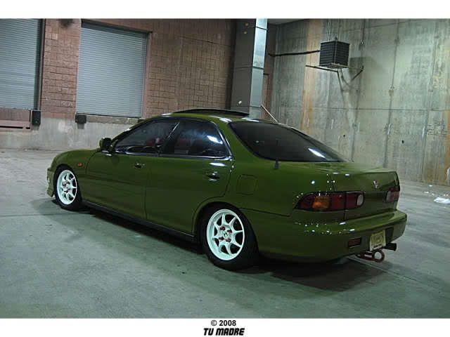 Green Jdm Front 4 Door Integra K20 Honda Cars Acura Integra Honda Civic Si