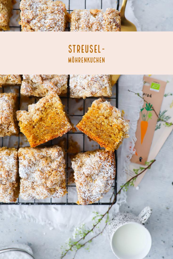 Streusel Carrot Cake Back Rezept | Zucker, Zimt und Liebe