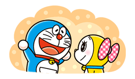 doraemon dorami line stickers line store doraemon divertido hermanas pinterest
