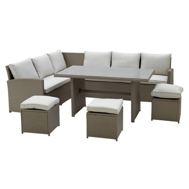 Buy Home 8 Seater Corner Dining Set At Argos Co Uk Your Online Shop For Garden Table And Chair Sets Garden Corner Sofa Set Sofa Set Garden Table And Chairs