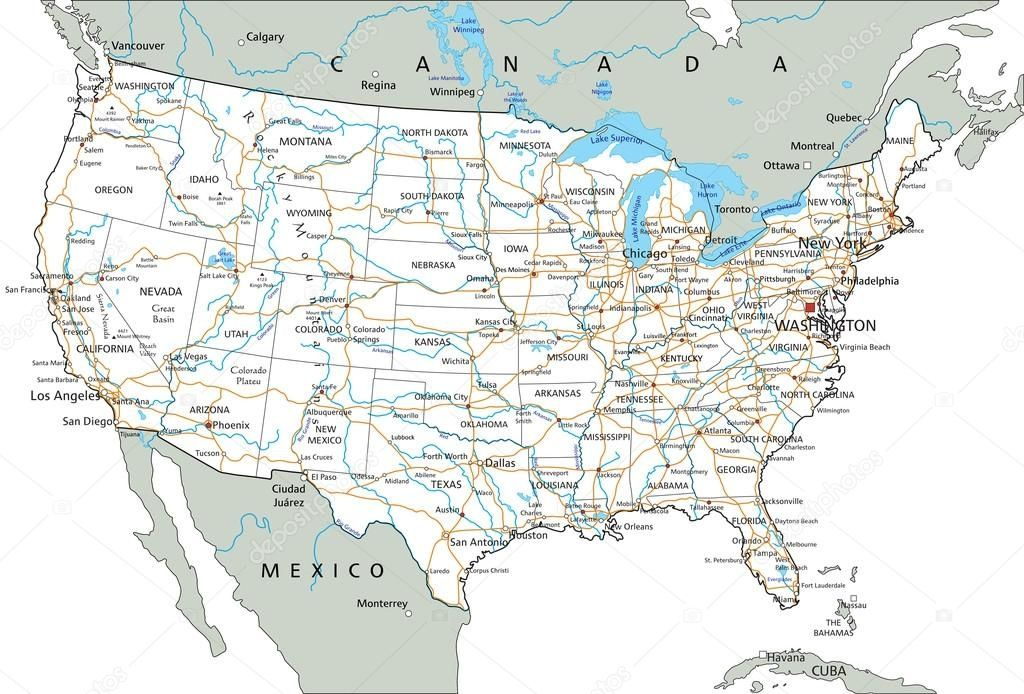 Road Maps The United States pict united states of america road