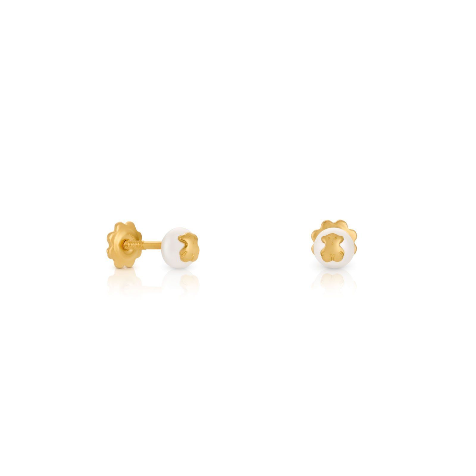 Gold Baby TOUS Earrings with Pearl | Bears, Babies and ...