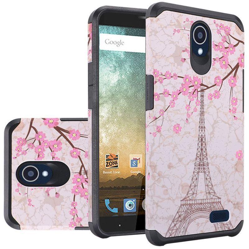 Insten Eiffel Tower Hard PC/ Silicone Dual Layer Case For ZTE Avid Plus/ Avid Trio/ Chapel/ Maven 2/ Prestige/ Sonata 3 #2339232
