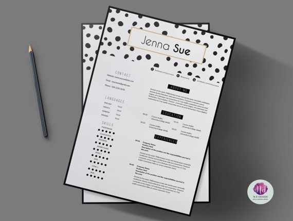 Resume Review Entrancing Modern Chic 2 Page Resume Template Cover Letterchictemplates