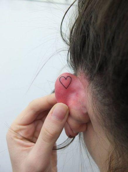Super Tattoo For Women Small Ear Love 53 Ideas #tattoo #Tattoosonneck
