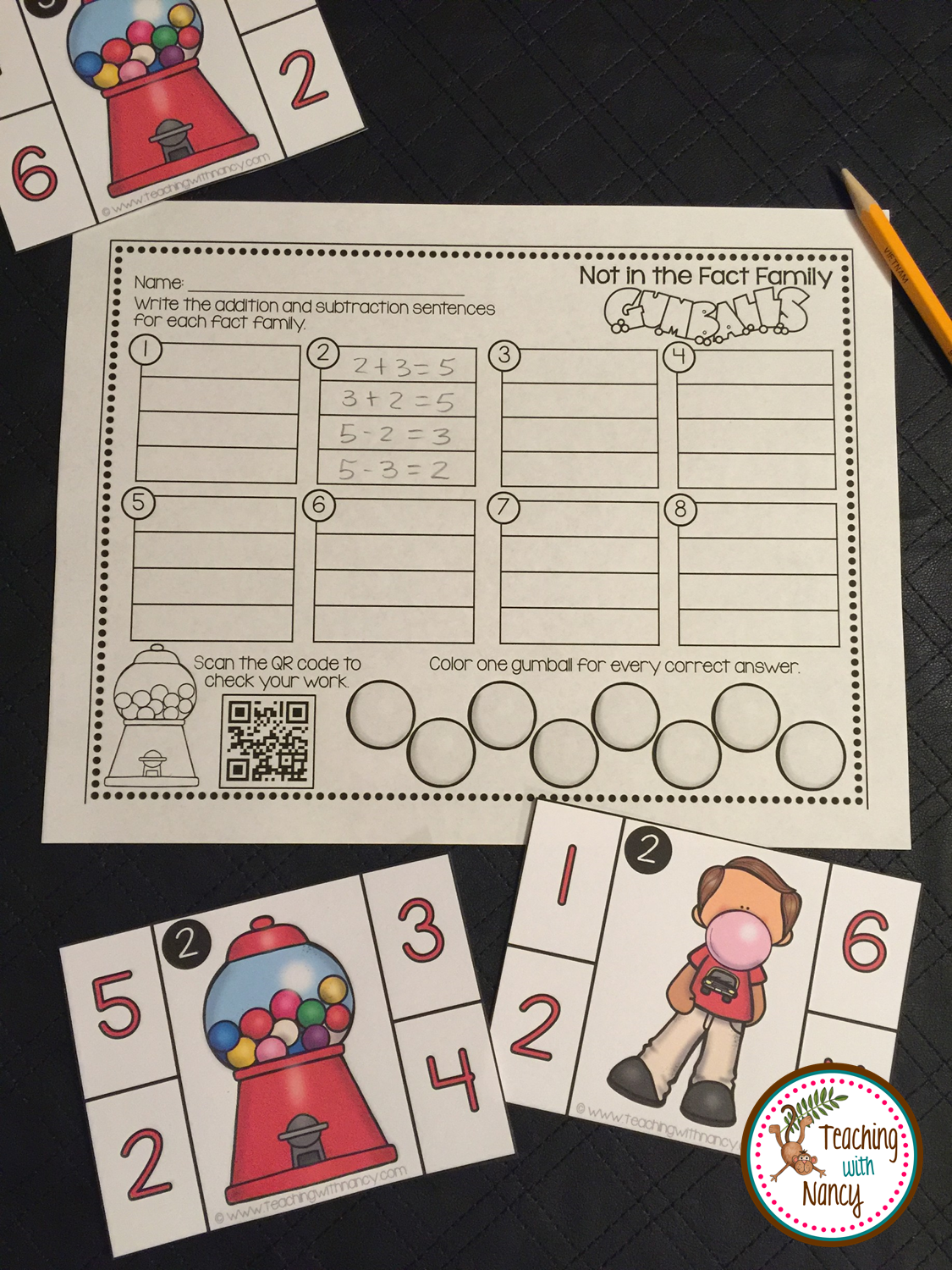 Gumball Kindergarten Math Stations With Images