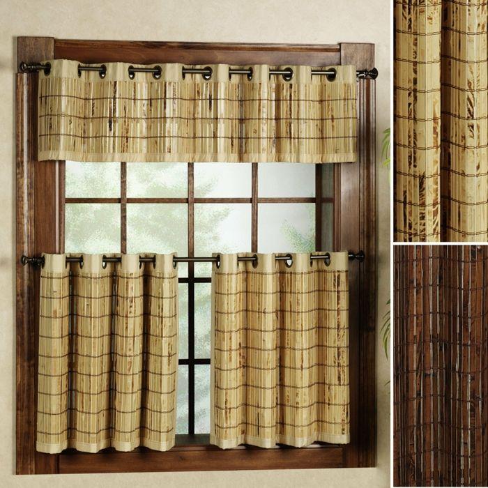 bambus deko bambusstangen fensterdekoration vorh nge. Black Bedroom Furniture Sets. Home Design Ideas