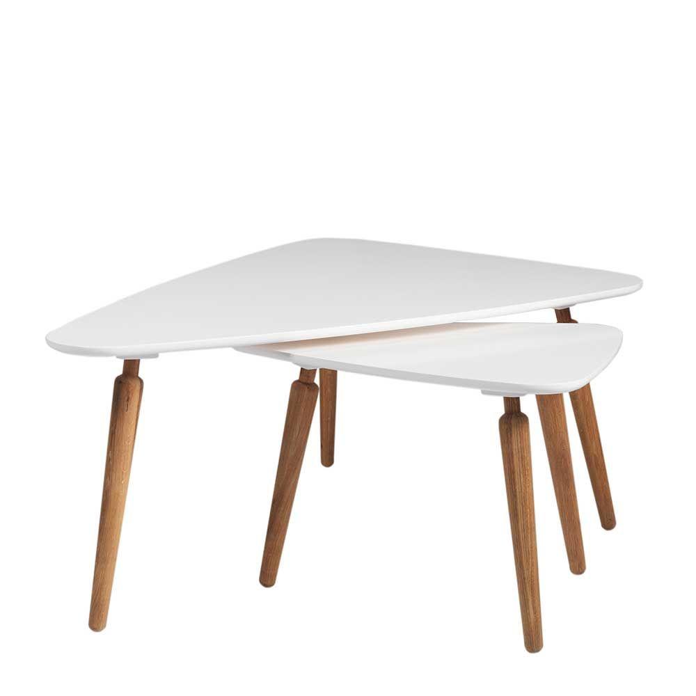 Sofatisch Set In Weiss Eiche Dreieckig 2 Teilig Jetzt Bestellen Unter Https Moebel Ladendirekt De Wohnzimmer Tische Satztische Satztische Tisch Sofa Tisch