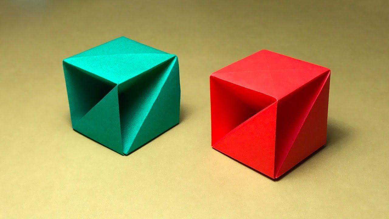 折り紙 箱の折り方 作り方 ちょっと難しい Origami Cube Origami Box Origami Design