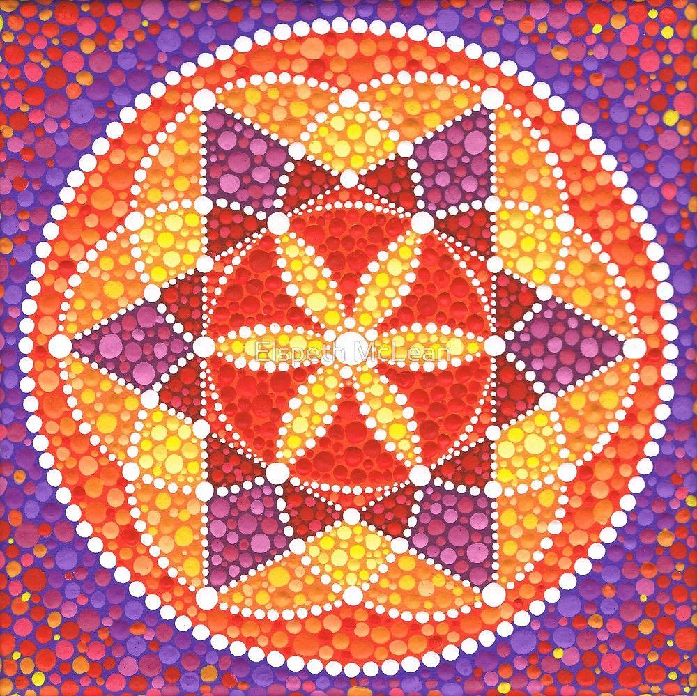 Sacred Geometry Star Flower von Elspeth McLean