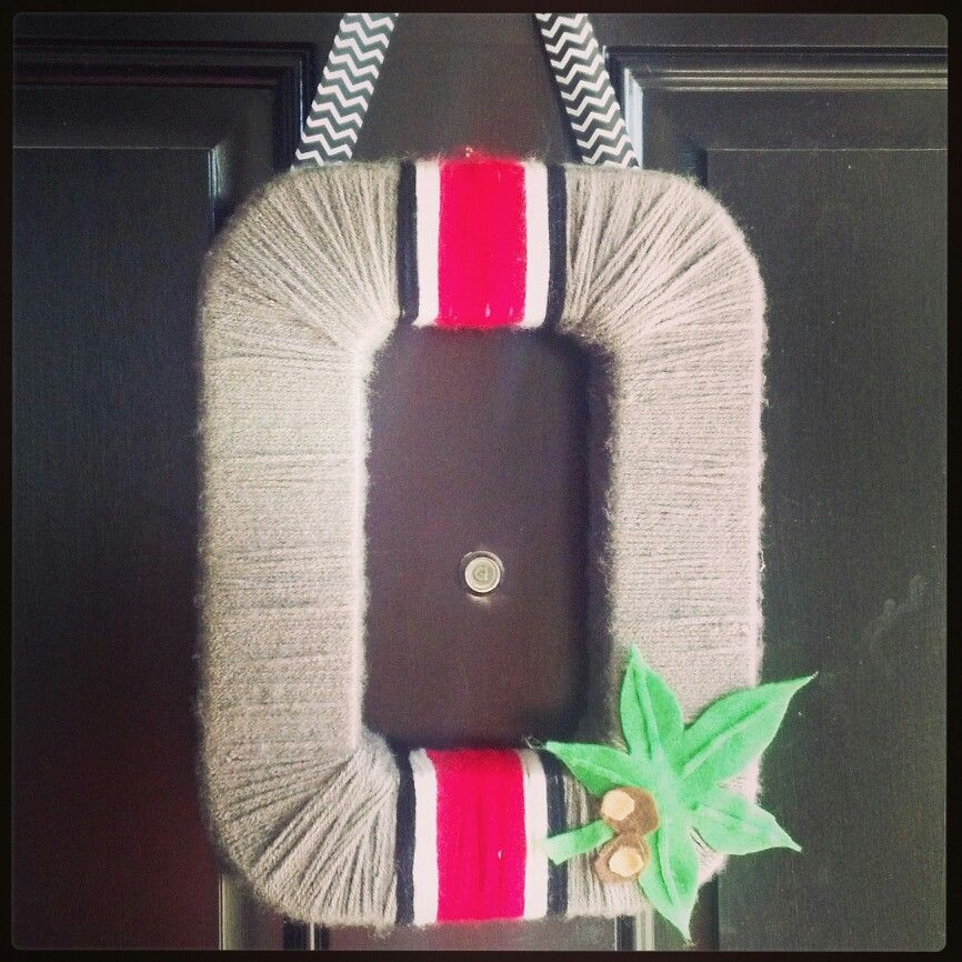 Ohio State Wreath. | My projects :) | Pinterest