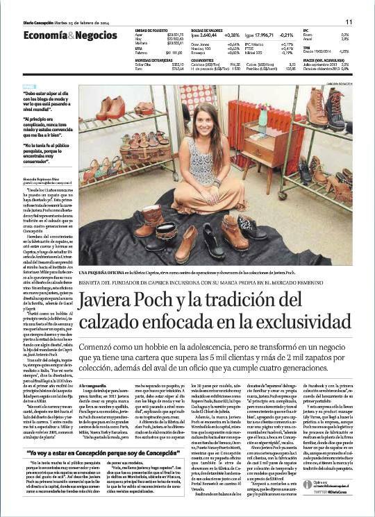 Reportaje Diario Concepción /25 de Febrero 2014.
