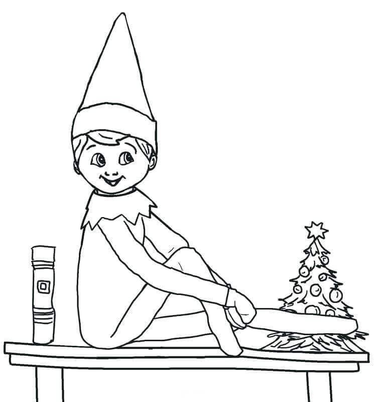 Elf On The Shelf Coloring Sheets Printables Printable Christmas Coloring Pages Christmas Coloring Pages Coloring Pages For Kids