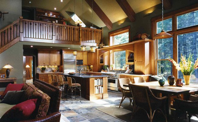 Open Concept Kitchen To Living Room And Dining Openconcept Hick