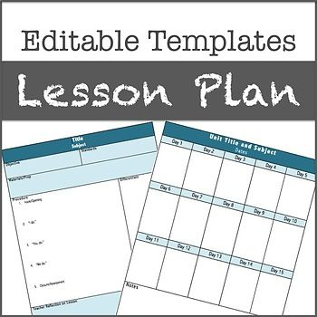 Lesson Plan Templates Editable Lesson Plan Templates