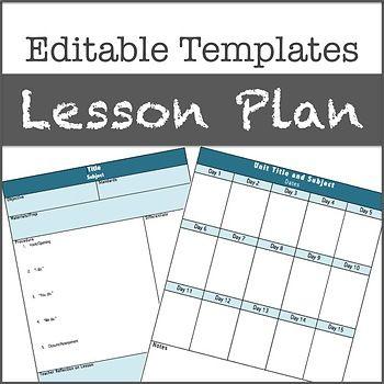 Lesson Plan Templates Editable Lesson Plan Templates - Gifted lesson plan template