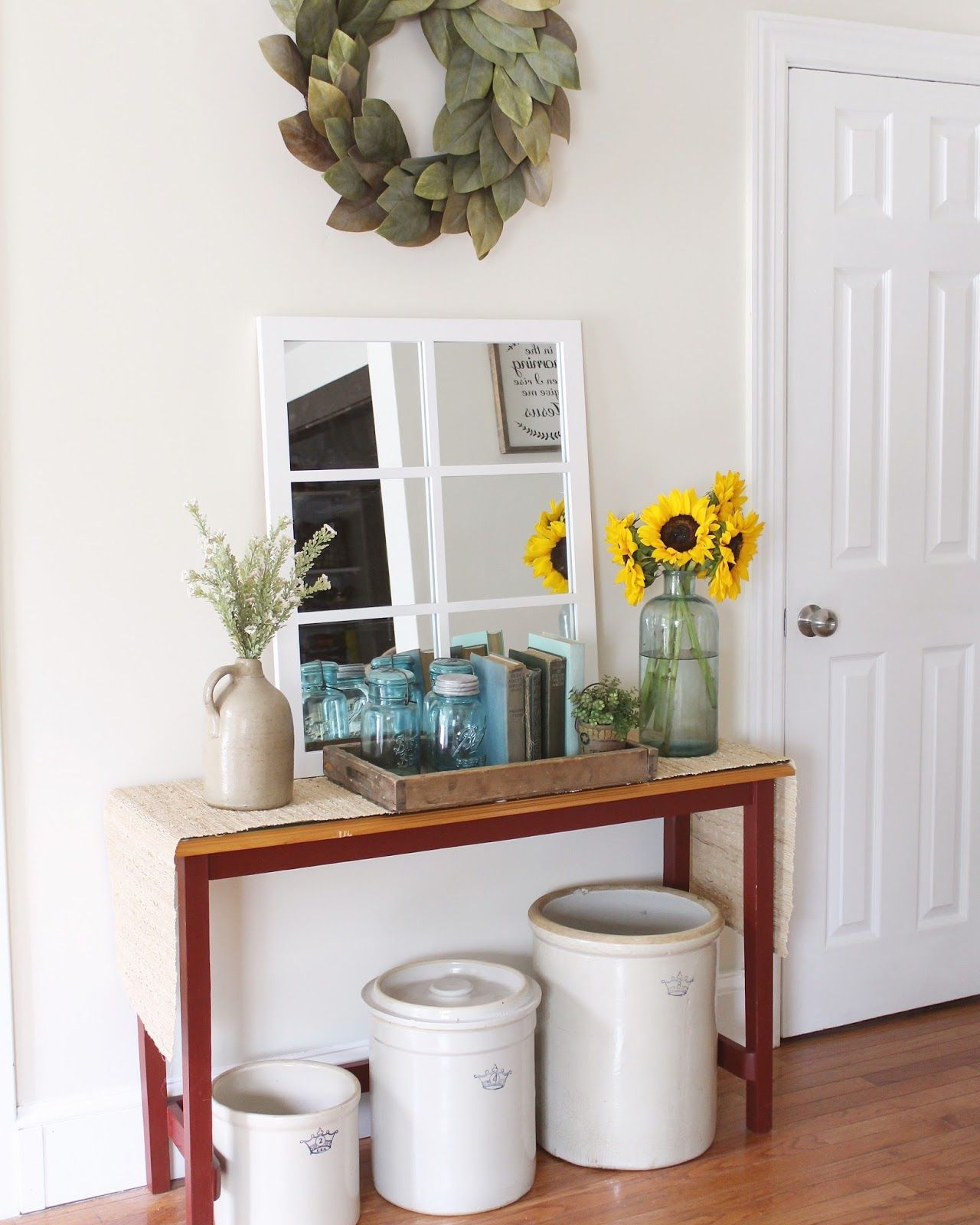 My farmhouse vintage style is just becoming more obsessive by nature. I swear I can't pass a basket or a crate without having some sort of c...