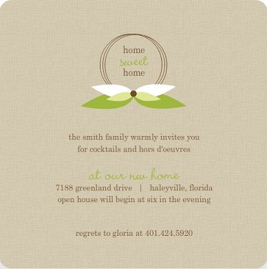 Housewarming Invitation Wording First Home