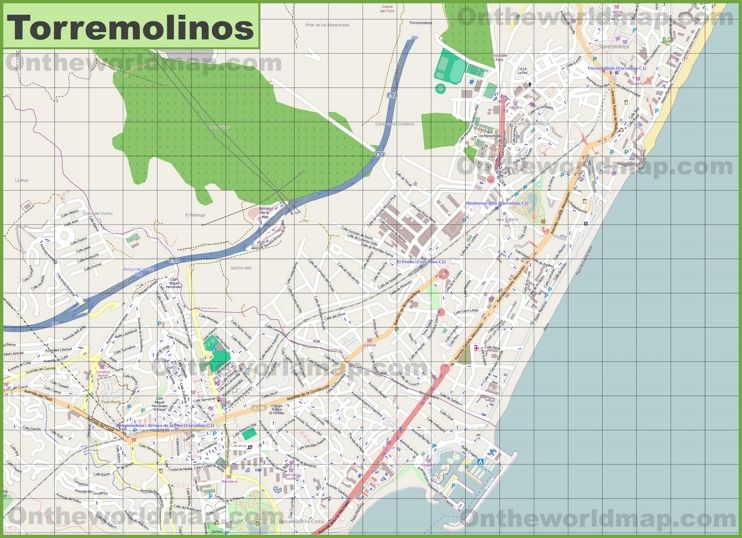 Large detailed map of Torremolinos Maps Pinterest Spain and City