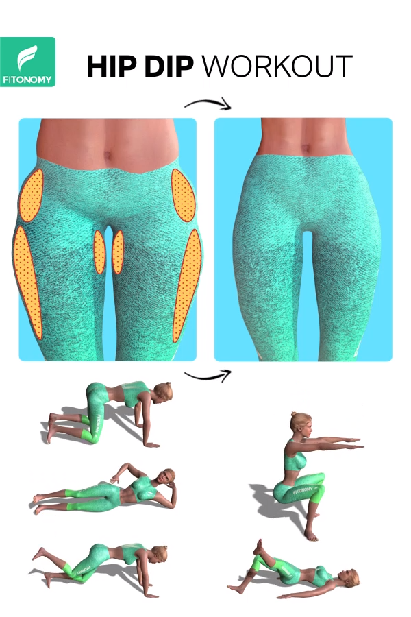 HIP DIP WORKOUT  #exercisesforupperback