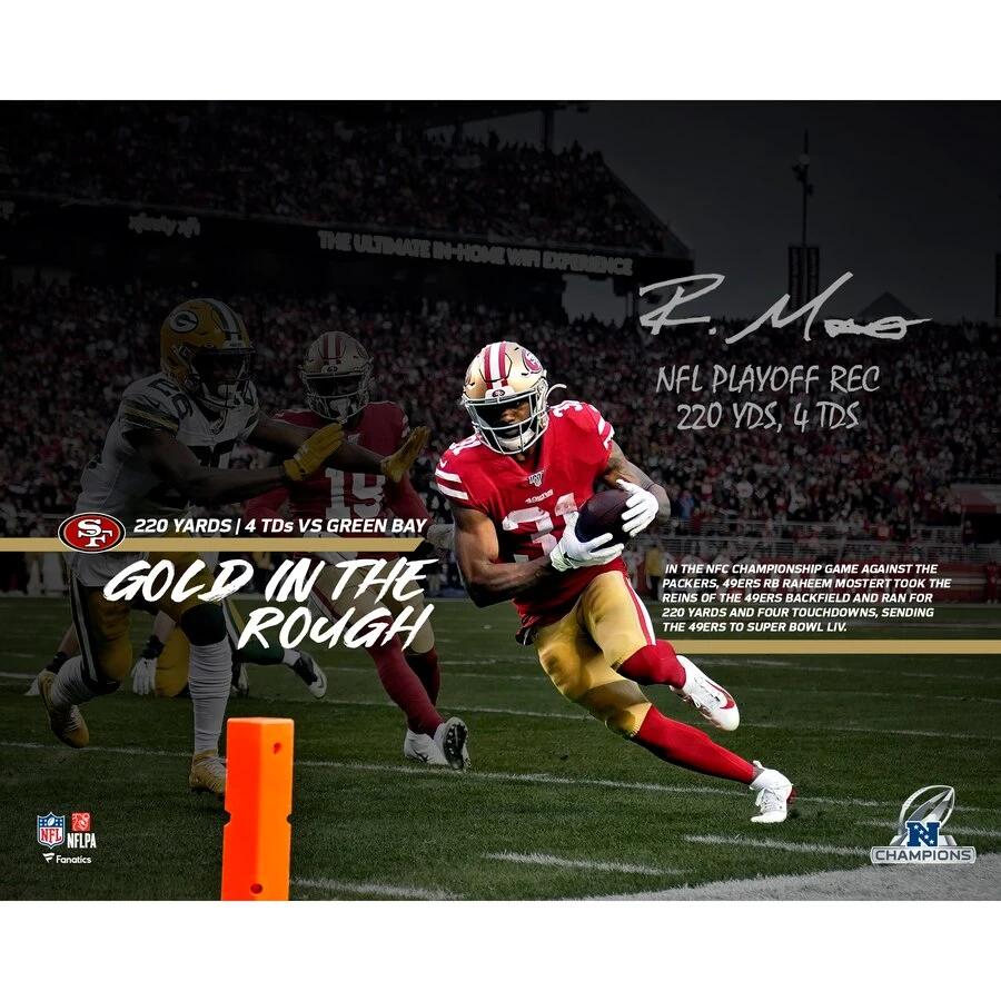 Raheem Mostert San Francisco 49ers Autographed 16x20 2019 Nfc Champion Super Sports Center In 2020 Nfl Playoffs San Francisco 49ers Nfc