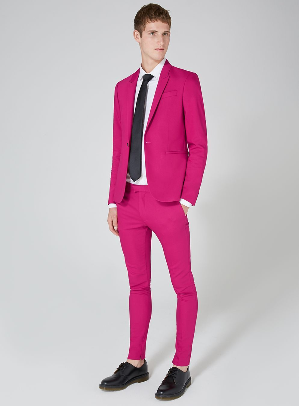 e6250e2b1 Bright Pink Spray On Suit - TOPMAN