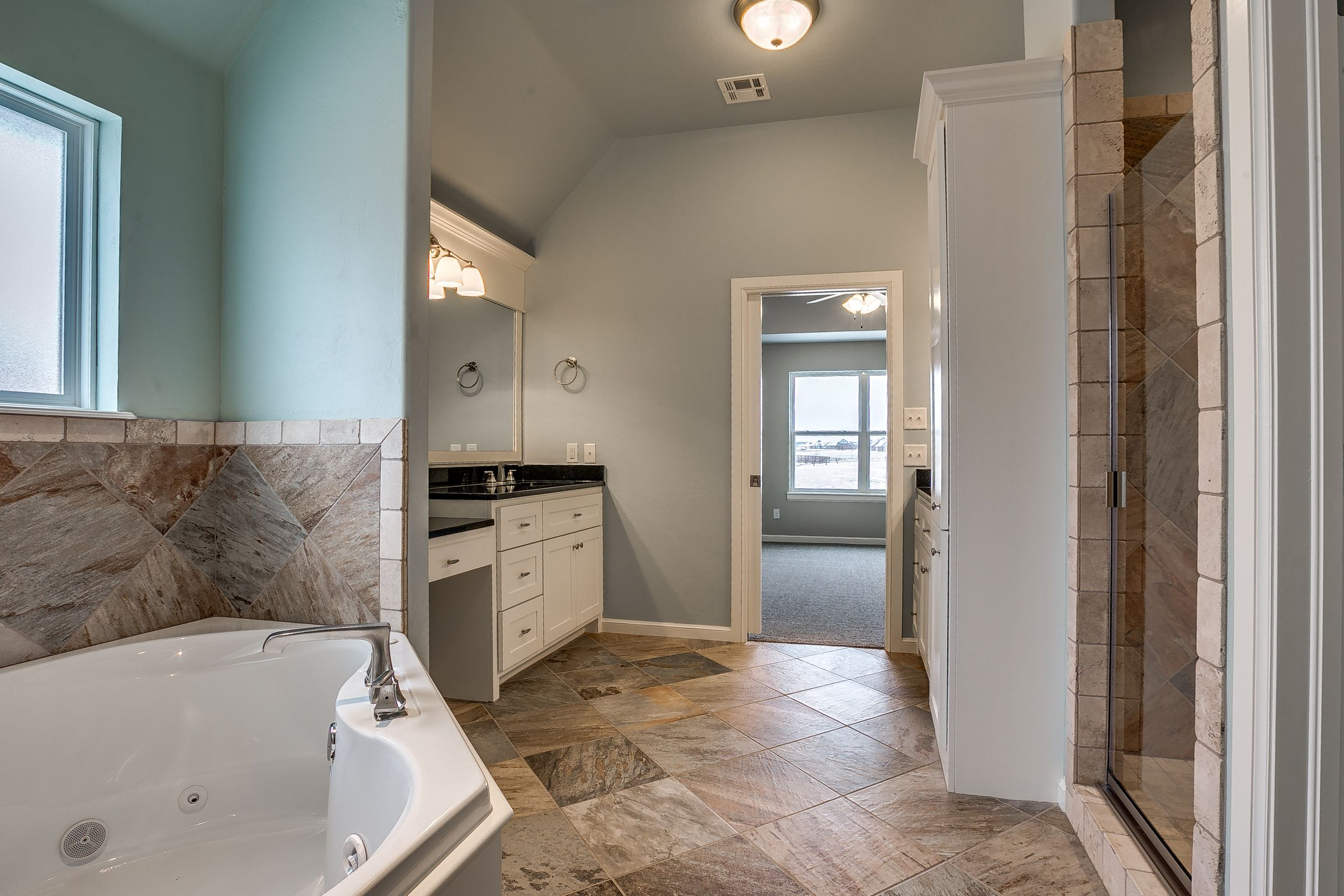 Sherwin Williams Sea Salt wall color slate supremo winter tile