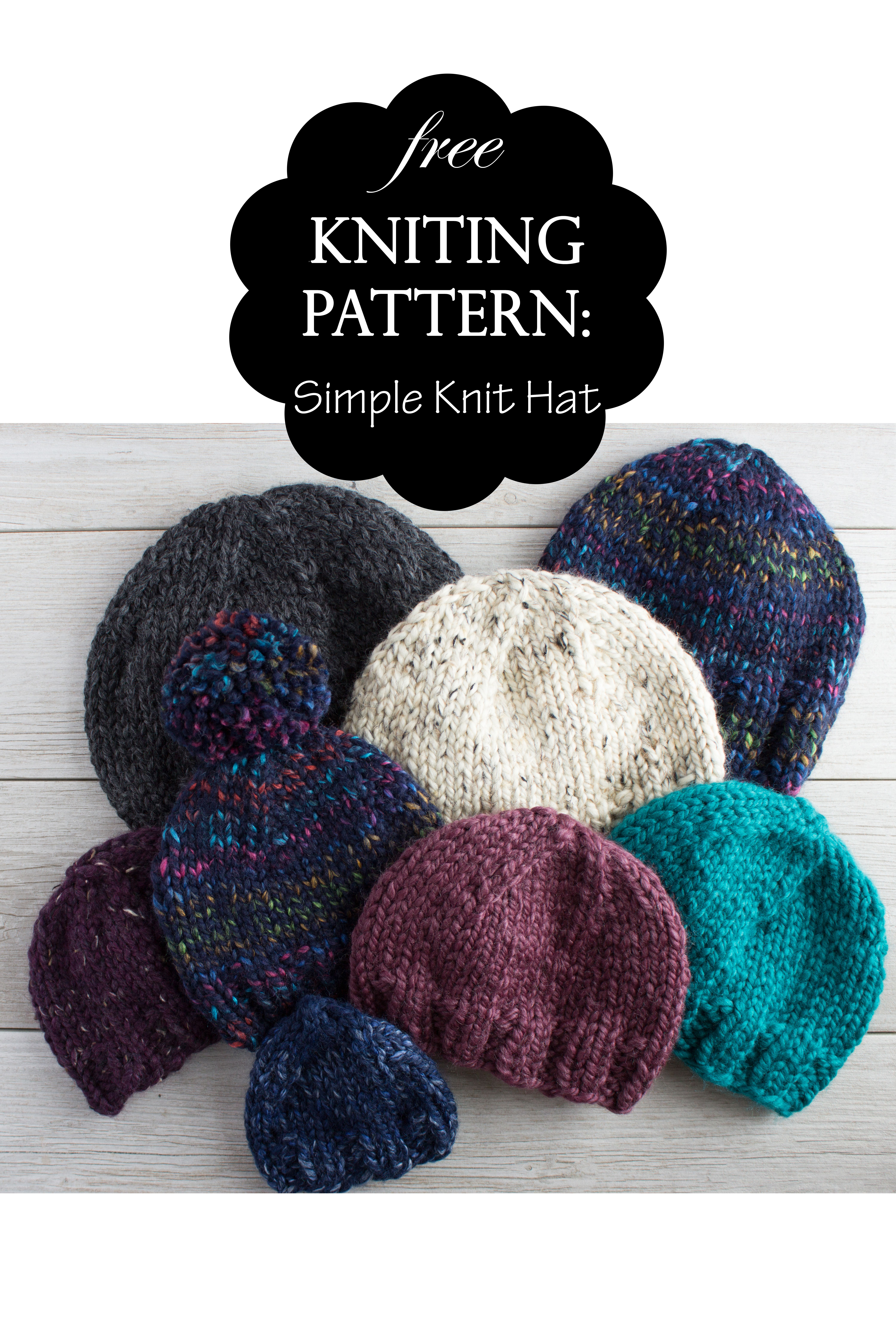 My Favorite Simple Knit Hat pattern by Snickerdoodle Knits ...