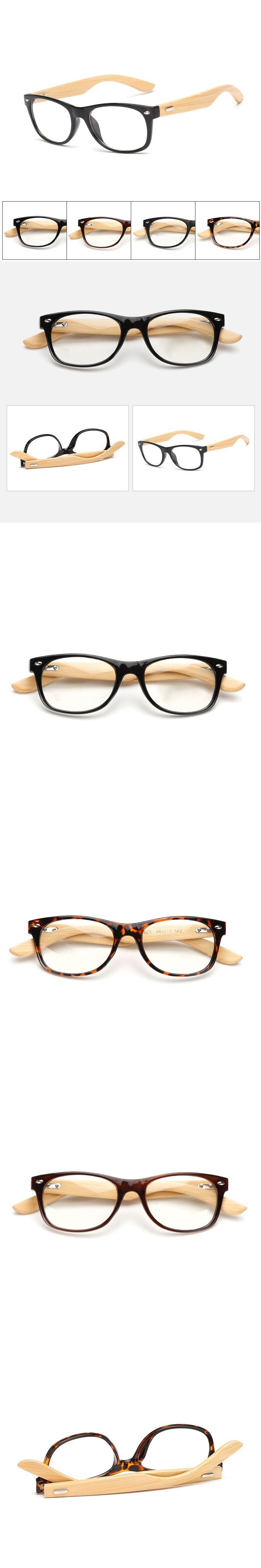 Spectacle Bamboo Square Glasses Frame Retro Men Brand Designer Frame ...