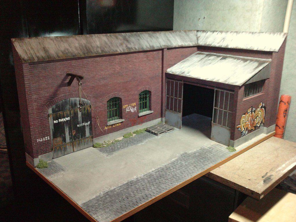 Inspiration diorama fa ade usine d saffect e 1 18 for Usine desaffectee exterieur