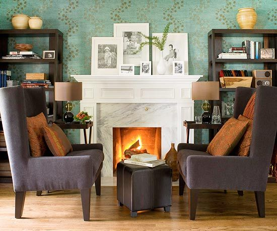reinventing a marble fireplace - Google Search livingroom ideas