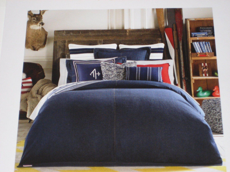 Amazon Com Tommy Hilfiger Denim King Comforter Home Kitchen