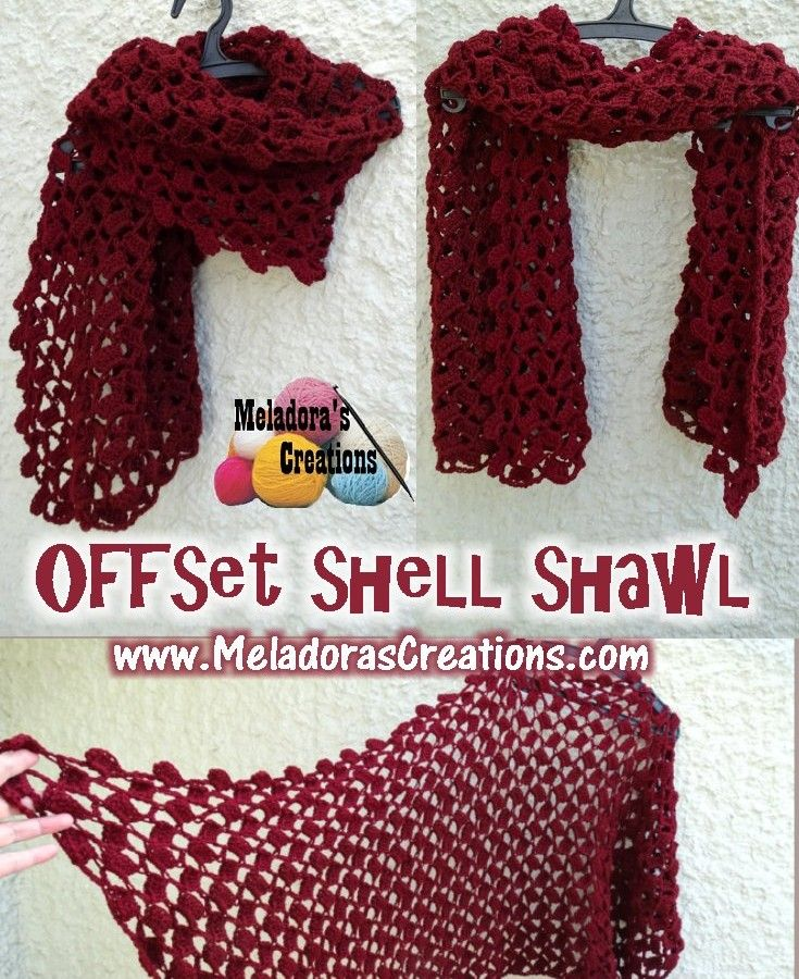 Offset shell shawl Pinterest pic | Crochet | Pinterest | Chal ...
