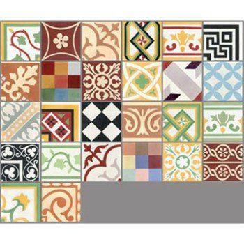 Carreau De Ciment Sol Et Mur Patchwork Multicolore Patchwork L 20