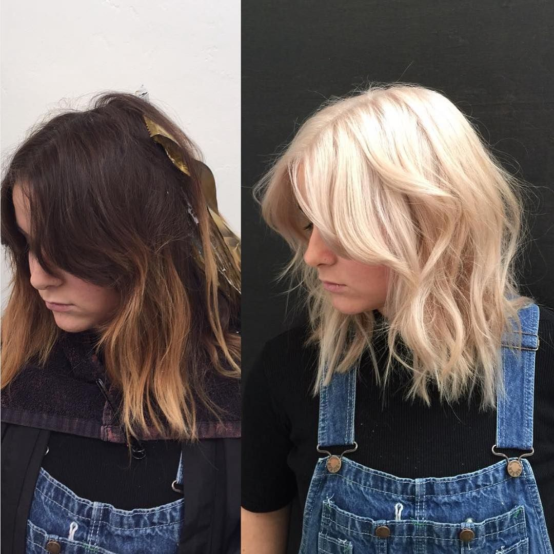 Holy Platinum Epic Color Transformation By Ashdemode He Used The Platinum Card Technique With Wella And Olap Hair Techniques Olaplex Long Hair Styles