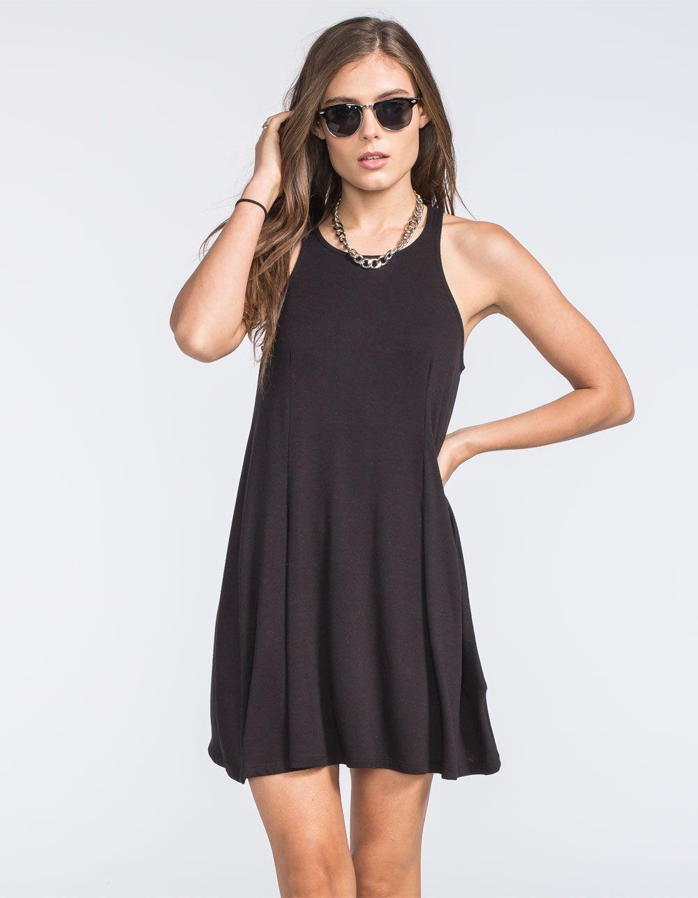 Full Tilt High Neck Swing Dress 253365100 Boho Grunge Short Dresses Knit Swing Dress Swing Dress [ 1286 x 1000 Pixel ]