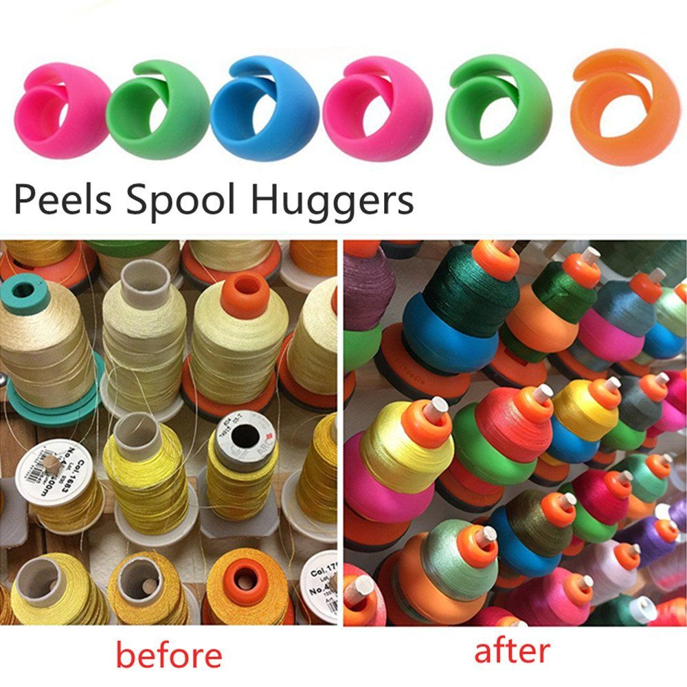 Thread Peels and Huggers Prevent Thread Tails from unwinding 48 Pieces