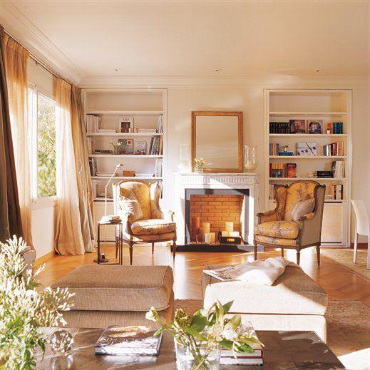 resultado de imagen de decorar salones con chimenea - Decoracion De Salones Con Chimenea