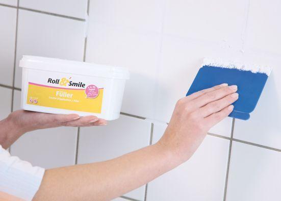 Rollputz für Fliesen u2026 Pinteresu2026 - badezimmer renovieren selber machen