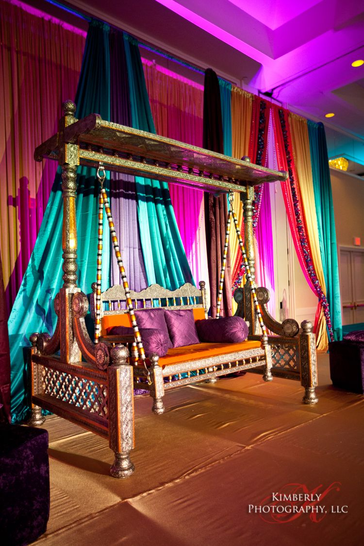 Mehndi Night Stage : Mehndi seating cushions throw pillows tent canopy