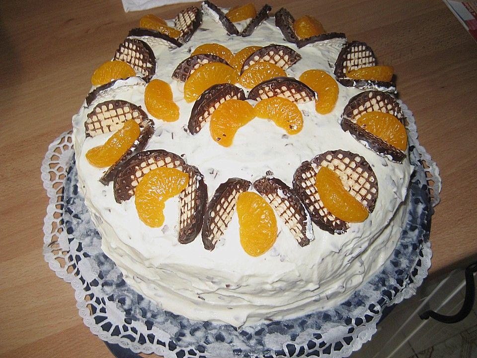 Schokokusstorte Mit Mandarinen Schnelle Kuchen Mandarinen