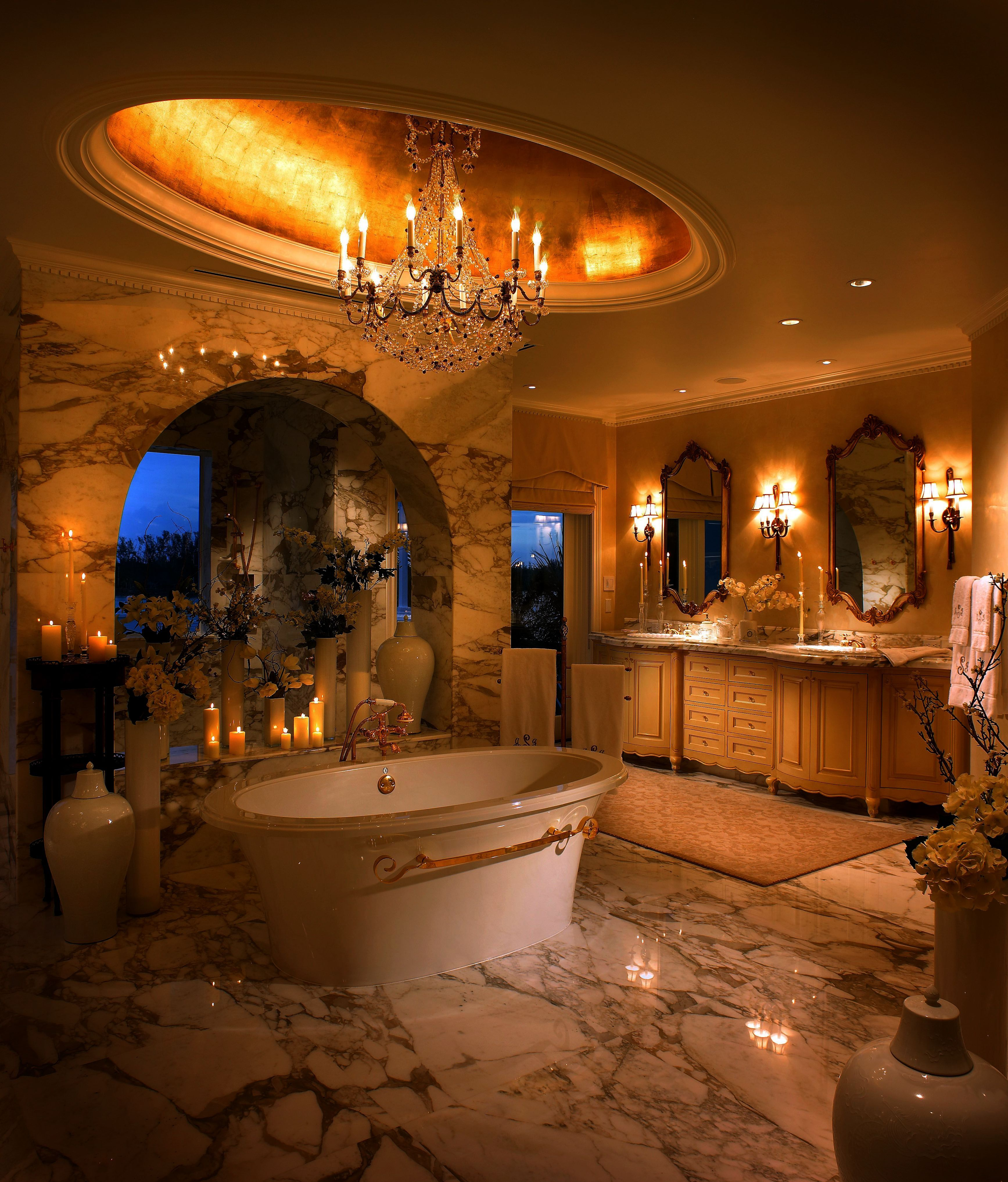 Master Bathroom Designed By Steven G Interiors With A Balneo