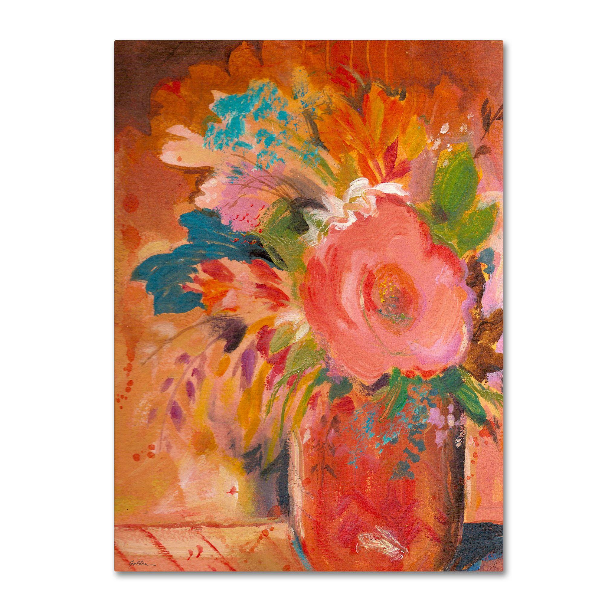 Trademark Fine Art Sheila Golden 'Copper Vase 3' Canvas Art