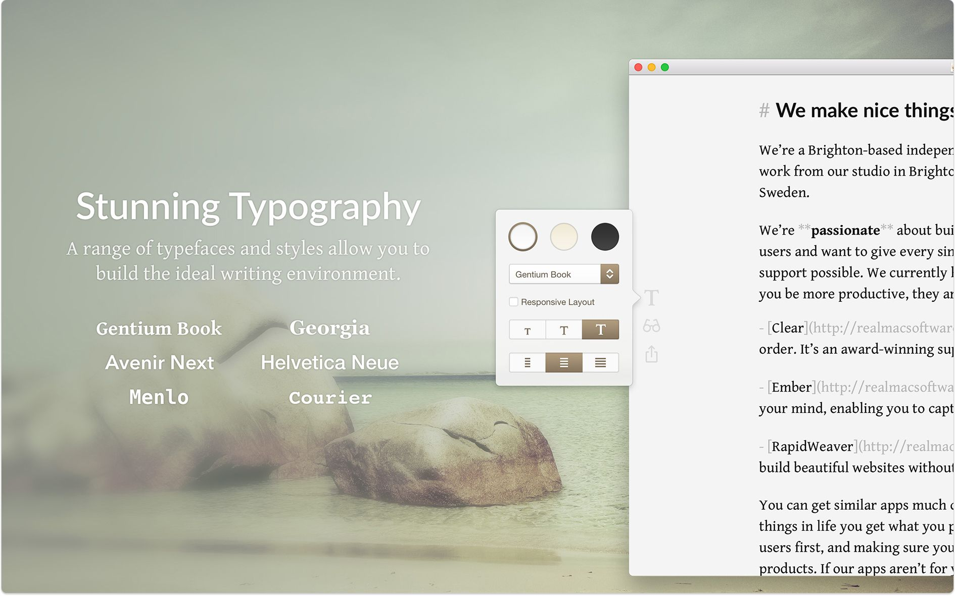 Typed — Minimal Writing App and Markdown Editor for Mac · Realmac ...