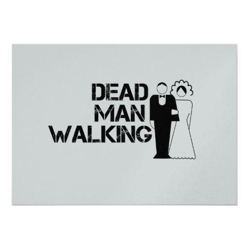 Funny Dead Man Walking Invitations