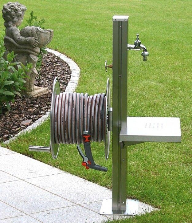 Wasserhahn Garten Saule Zuhause Image Ideas