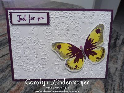 Carolyn's Card Creations: Yes, another Watercolor Wings Butterfly